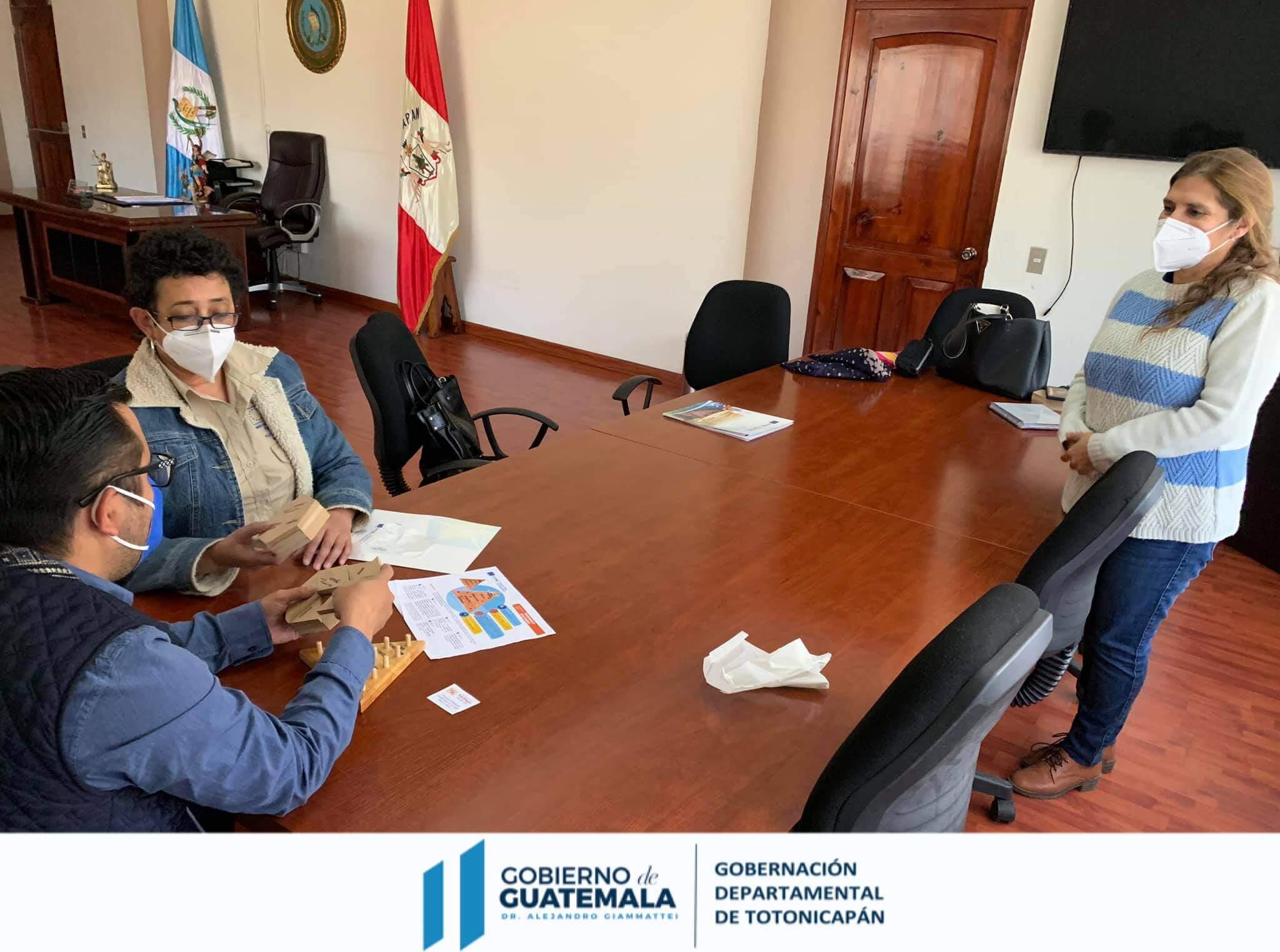 Gobernador de Totonicapán sostuvo reunión con representantes del PiNN/Catie
